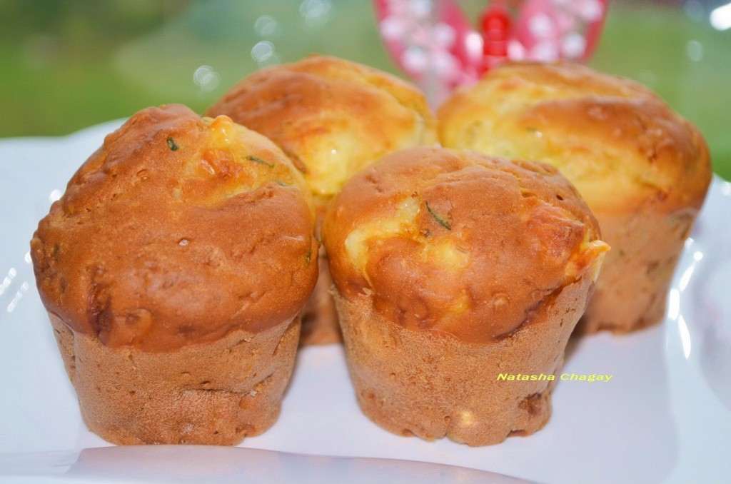Кексы с кабачком и сыром