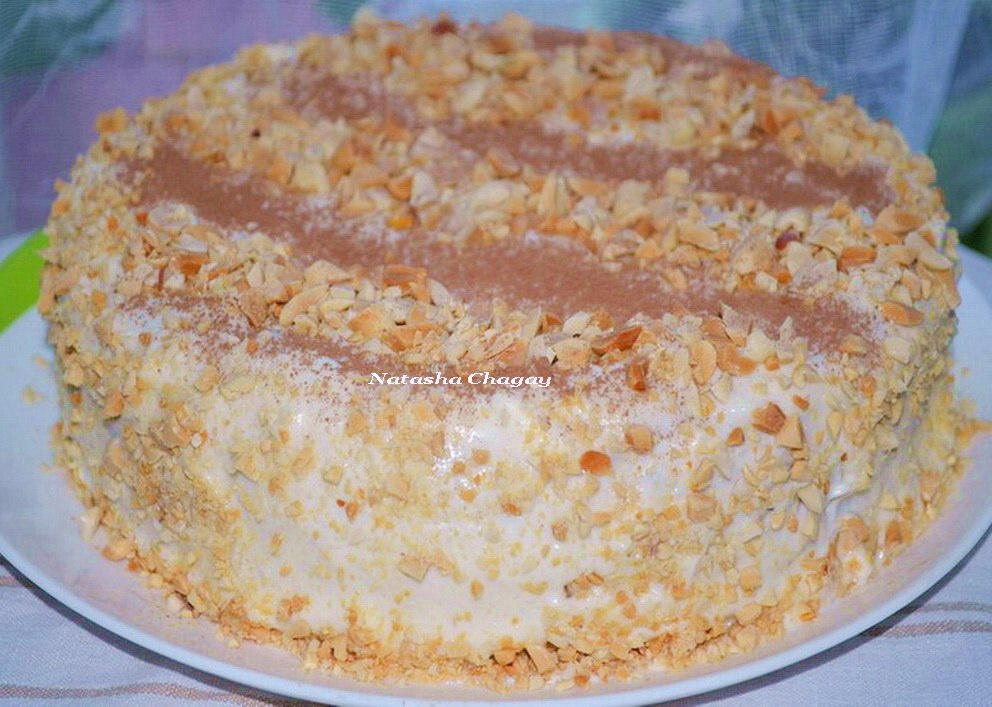 Творожно - морковный торт