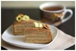 Бананово-яблочный торт с шоколадным йогуртом