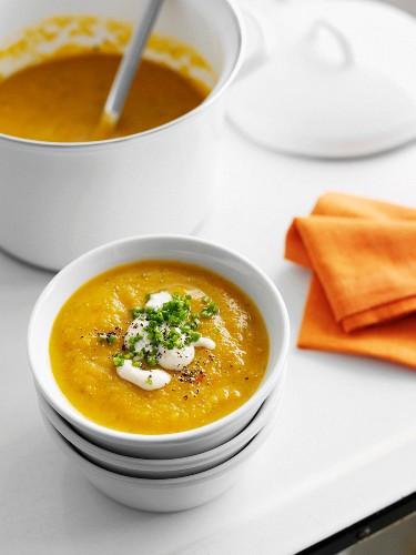 Суп пюре из тыквы со сливками