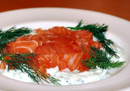Закуска из лосося