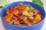 Жаркое из свинины с фасолью и тыквой