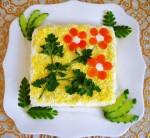 Салат «Курочка в апельсине»