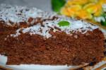 Шоколадно - кокосовый пирог с апельсиновой пропиткой