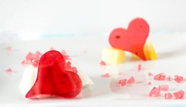 Сладкие желейные сердца